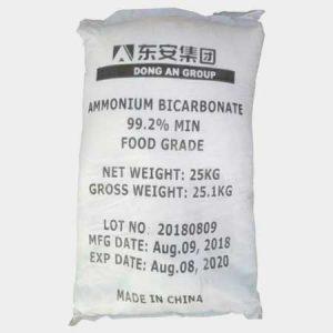 بی کربنات آمونیوم خوراکی - آمونیاک خوراکی - بی کربنات آمونیوم خوراکی چینی